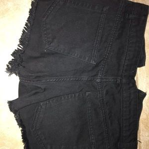 Black Forerver 21 denim shorts
